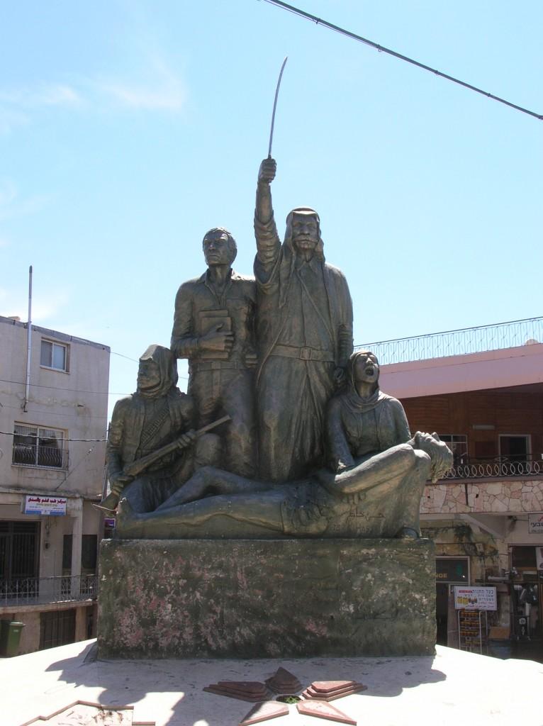 אמירה פוליטית בפיסול ציפורי בכפר הדרוזי מג'דל א-שמס ברמת הגולן