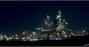 מפעל נשר רמלה בלילה