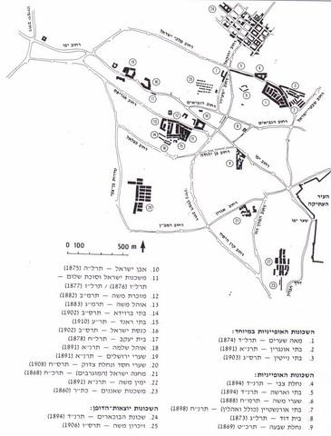 שכונות ובנייני ציבור יהודיים מחוץ לחומות 1860 – 1914