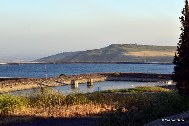 מאגר מי השקייה. ברקע גן לאומי כוכב הירדן - צילום: יעקב ספפיר