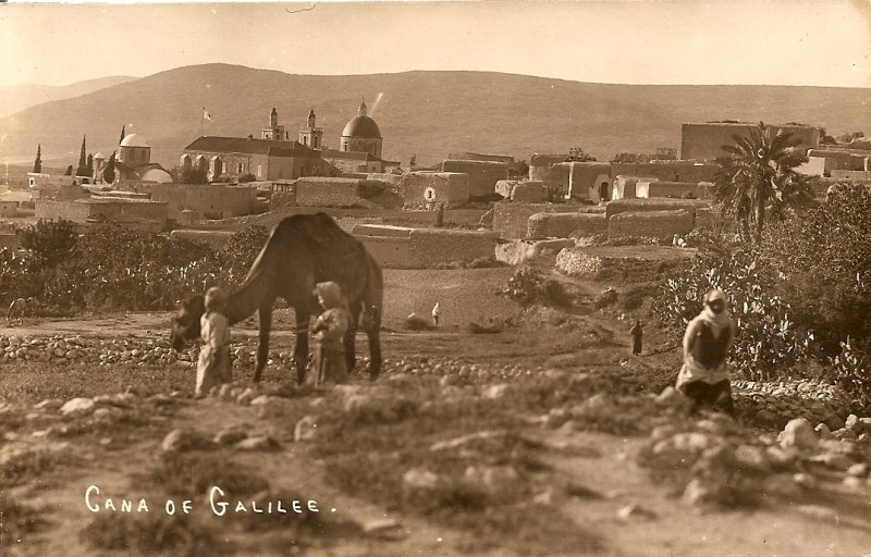 Postcard of Kafr Kanna by Karimeh Abbud, c. 1925
