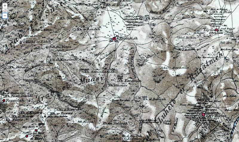 מפת PEF ח׳ירבת בדייה - חורבת בדיד