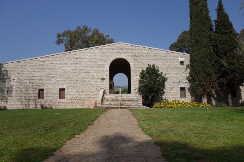 חזית בית אוסישקין בקיבוץ דן צילום:מיכאל יעקובסון