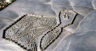 בית ראשון - מבנה ירושלים בסוף תקופת בית ראשון לפי הדגם באוניברסיטה המורמונית.