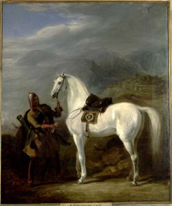 A Circassian chief. By the end of the fourteenth century most of the Mamluk forces were composed of ethnic Circassians. Painted by Sir William Allan in 1843.