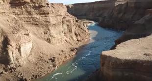 הנהר הסודי בשטח מפעלי ים המלח *